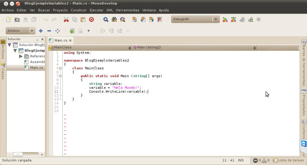 MonoDevelop. IDE de programación .NET Framework en GNU/Linux