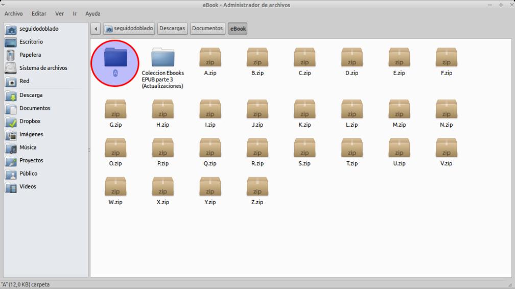 Navegador de archivos Thunar
