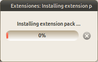 Extensiones: Installing extension pack_098