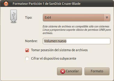 Formatear Partición 1 de SanDisk Cruzer Blade_008