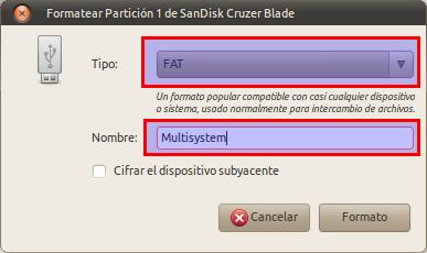 Formatear Partición 1 de SanDisk Cruzer Blade_009