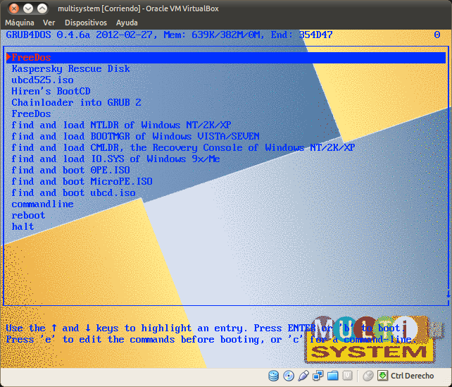 multisystem [Corriendo] - Oracle VM VirtualBox_110
