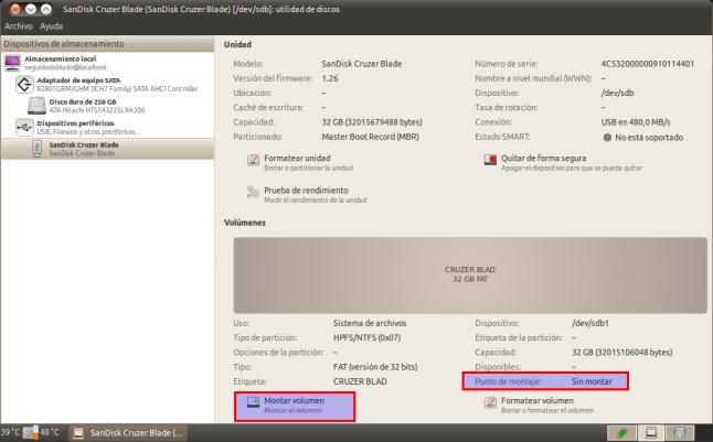 SanDisk Cruzer Blade (SanDisk Cruzer Blade) [-dev-sdb]: utilidad de discos_006