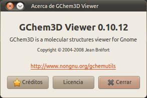 Acerca de GChem3D Viewer_010