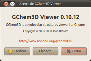 Acerca de GChem3D Viewer_010