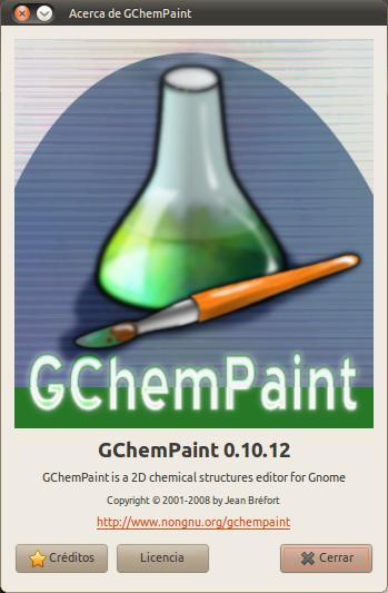Acerca de GChemPaint_095